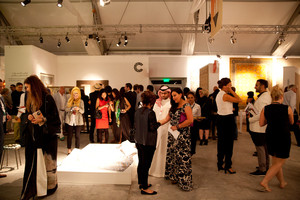 Guests attend the opening reception of Design Days Dubai 2014.