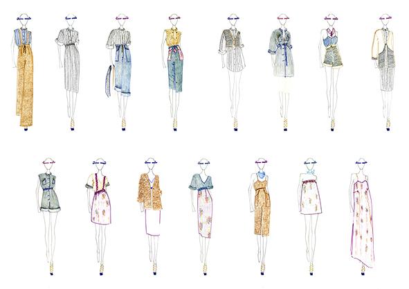 Gli sketch della collezione estiva di Valentina L Fontana