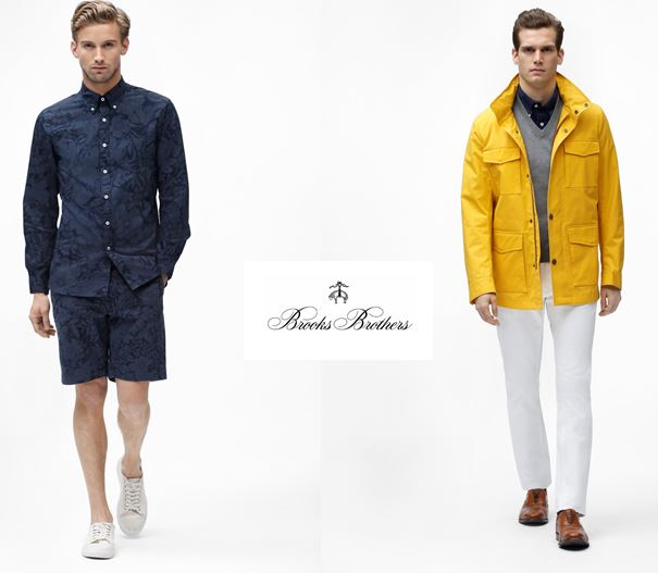 Brooks Brothers estivo 2017 per la Red Fleece (a sinistra) e la prima linea.