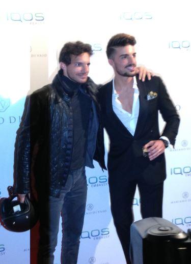 Riccardo Pozzoli e Mariano Di Vaio a Milano all'IQos Embassy.