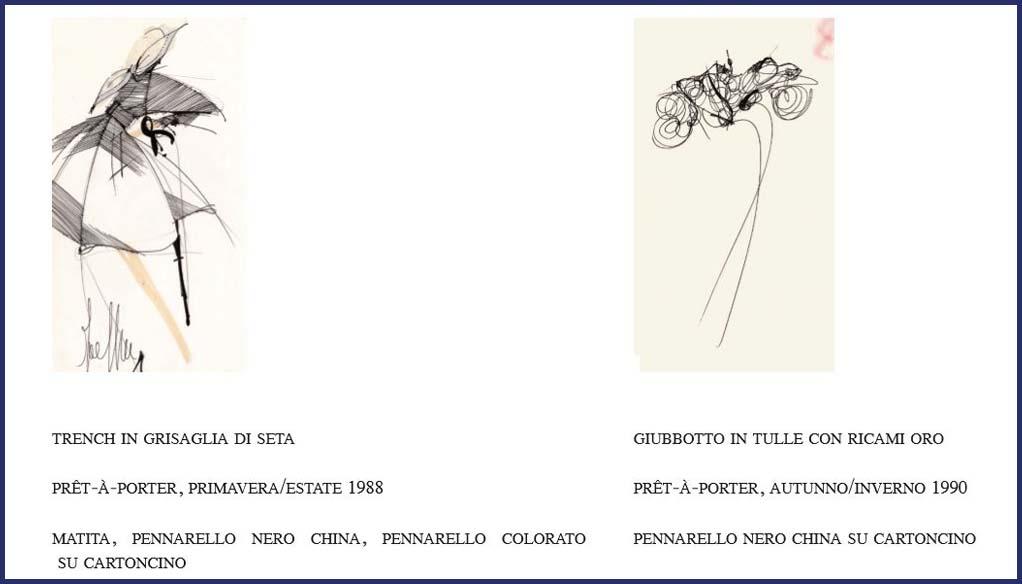 I disegni di Ferrè, seocndo la curatrice Rita, sono la porta d'accesso sul suo mondo interiore.