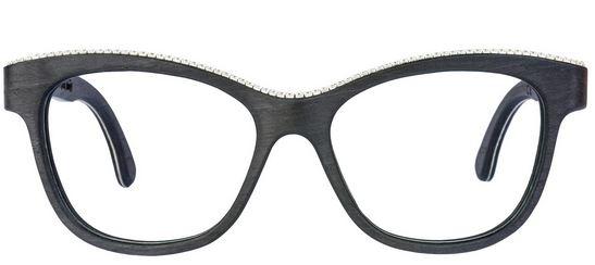 Guardateli bene: gli occhiali in legno WoodOne hanno dettagli in Swarovski.