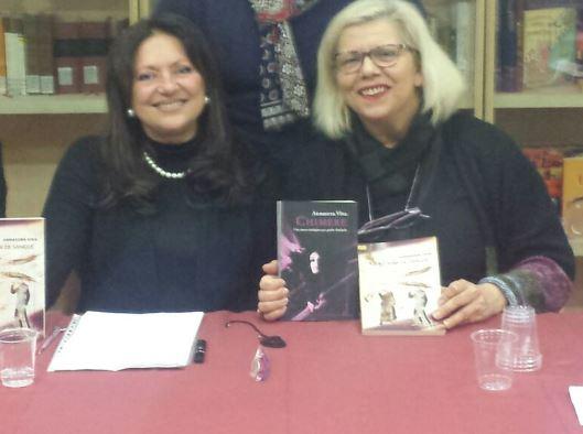 Annavera Viva in una recente presentazione di Chimere (foto courtesy Gabriella Falcone)