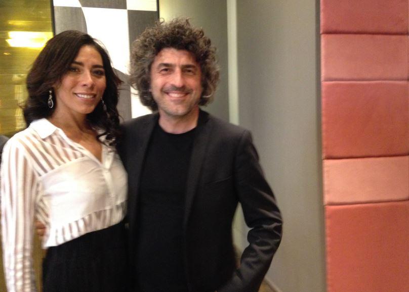 L'artista Geovana Clea con il designer Gio Pagani (foto: Christian D'Antonio - The Way Magazine)