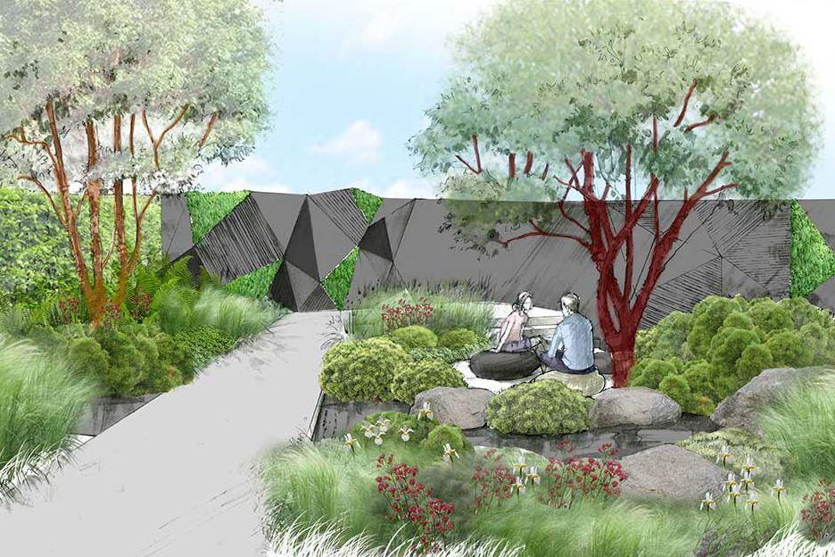 """Il giardino """"tattile"""", nuovo trend che si vedrà a Londra a maggio."""