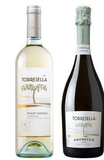 Torresella Pinot e Prosecco.