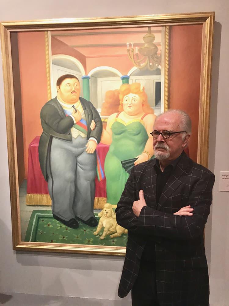Fernado Botero durante tutta la conferenza non si è sottratto alle foto dei giornalisti.