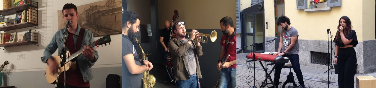 Da sinistra, i protagonisti di NoLo in Musica: Gabriele Muselli, Nido Workshop e Marte e Astolfo.