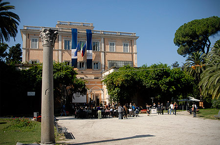 Il Palazzetto Mattei di Villa Celimontana a Roma, sede della Società Geografica Italiana dagli anni 20.
