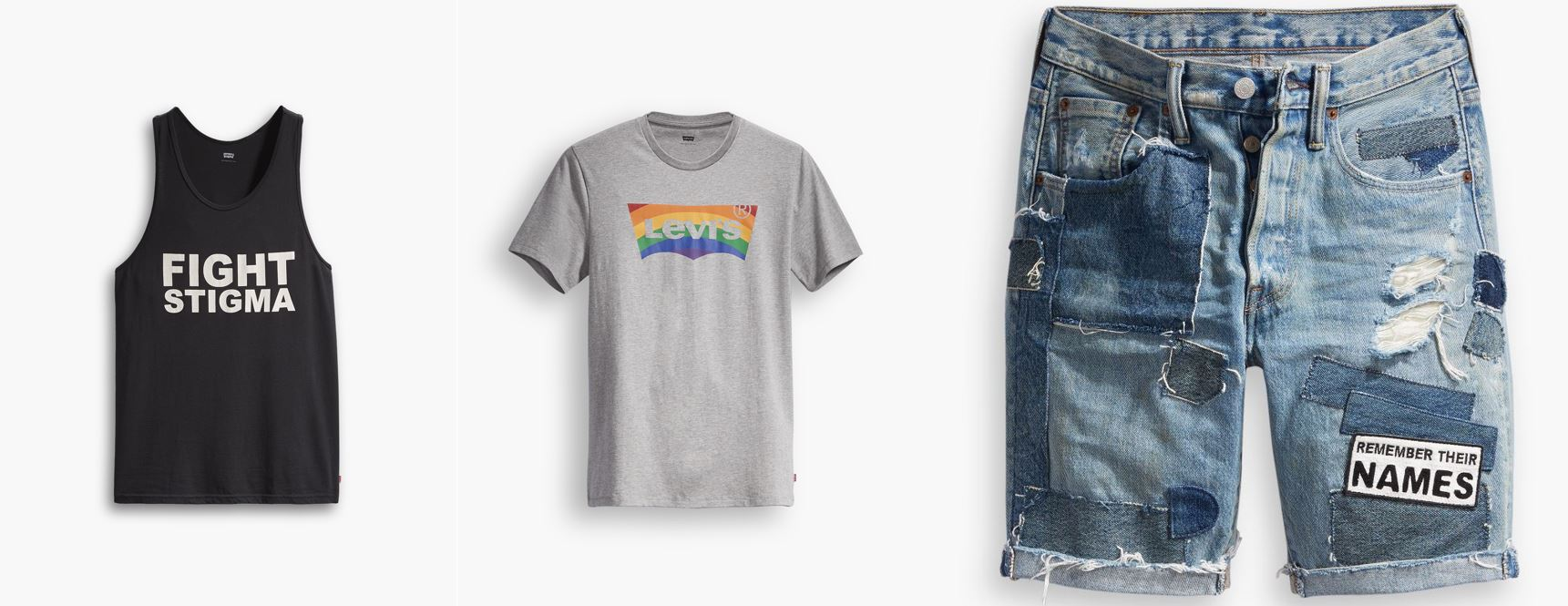 Fight Stigma è uno slogan ripreso per la Pride Collection di Levi's.