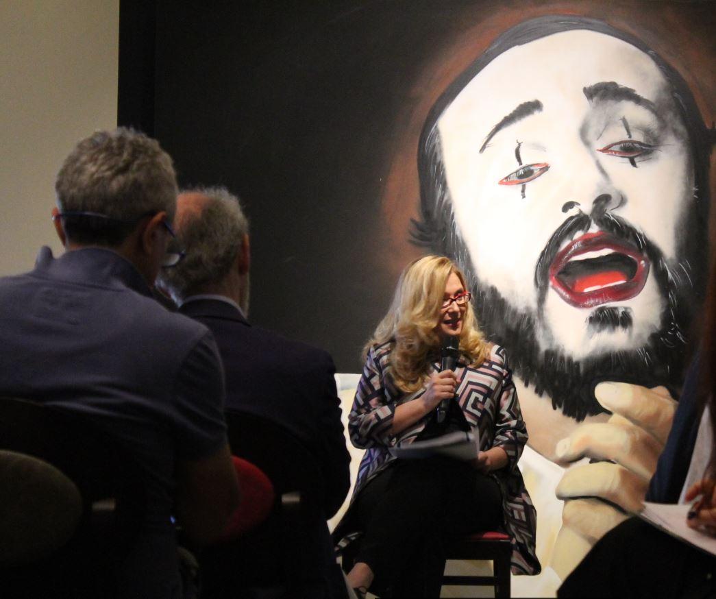 Nicoletta Mantovani durante la presentazione alla stampa di Luciano Pavarotti 10th Anniversary (foto: Christian D'Antonio - The Way Magazine)