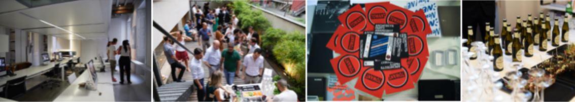 Alcuni momenti degli ArchitectsParty il mese scorso a Milano.