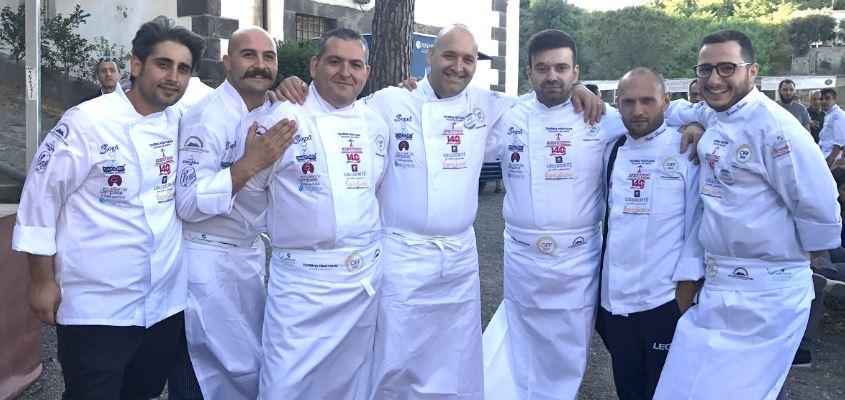 Gli chef a Off a Ottaviano (Napoli).