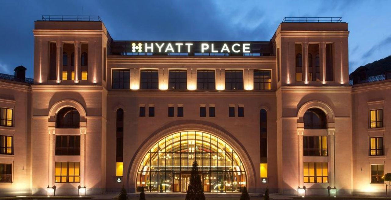 L'Hyatt Palace di Jermuk, in montagna.