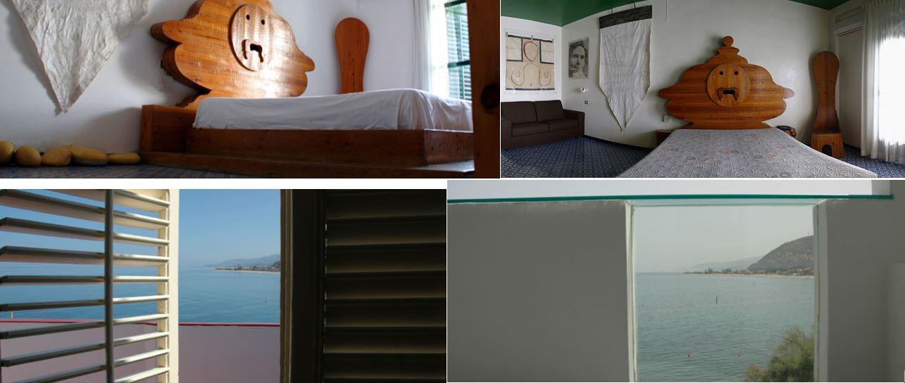 Le camere di Atelier Sul Mare volute da Antonio Presti per vivere dentro l'arte.