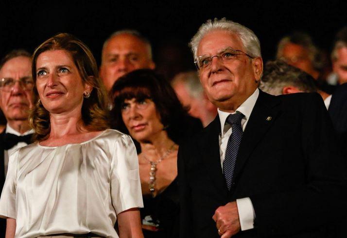 Il Presidente della Repubblica Sergio Mattarella a Venezia ieri.