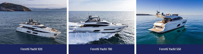 Ferretti yacht 920, 780, 550