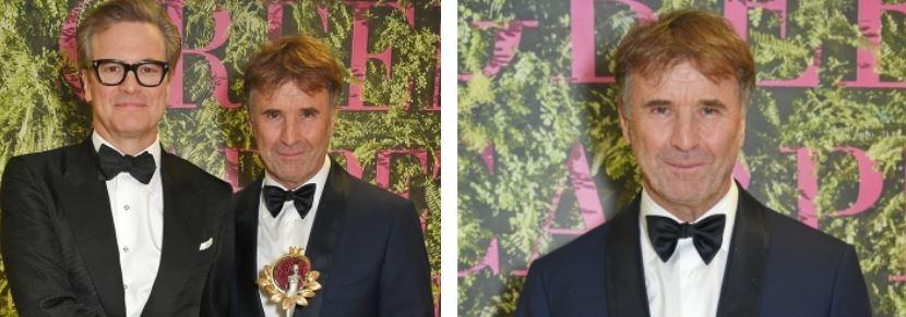 Brunello Cucinelli e Colin Firth (foto: Camera della Moda).