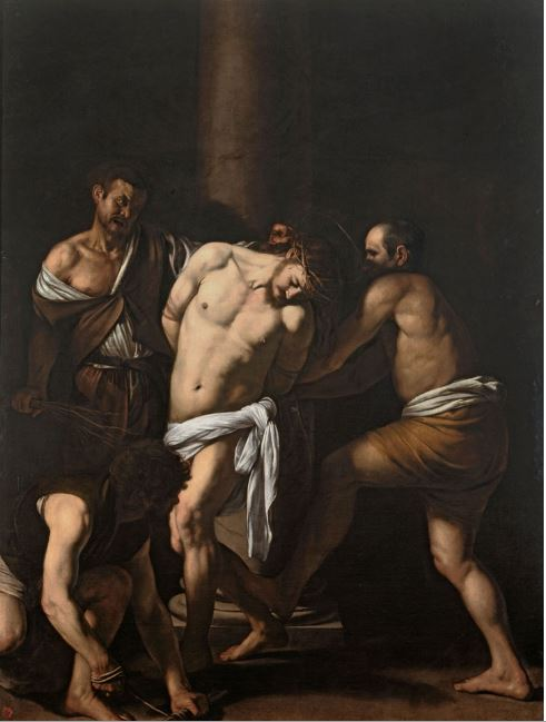 Flagellazione (Caravaggio, olio su tela 286x213 cm -  1607-1608)