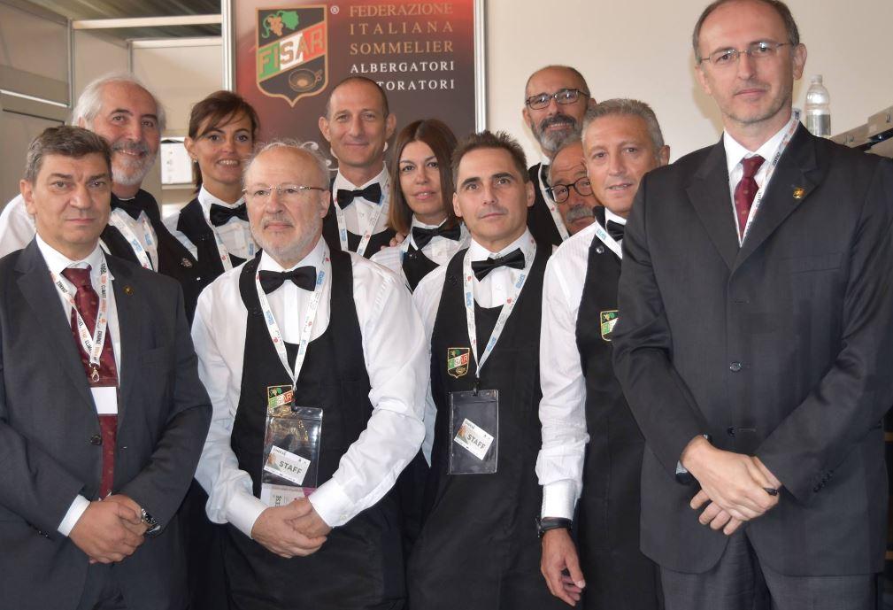 I Sommelier di FISAR al Cheese 2017.