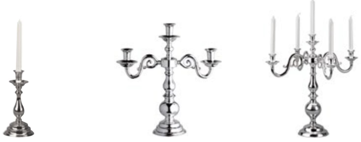 I candelabri di Broggi 1818. Con la placca in argento sono tra le opere d'arte del settore complementi d'arredo.