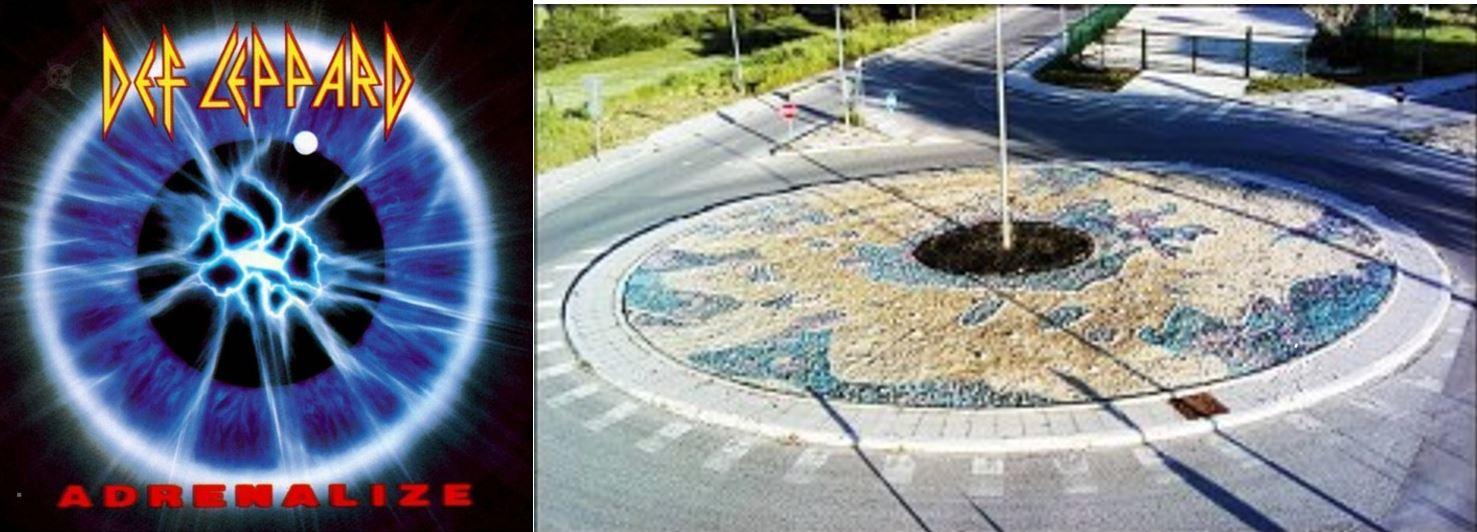 Sarebbe bello vederle in ogni città: aiuole o rotonde col verde disegnato come le copertine dei dischi.