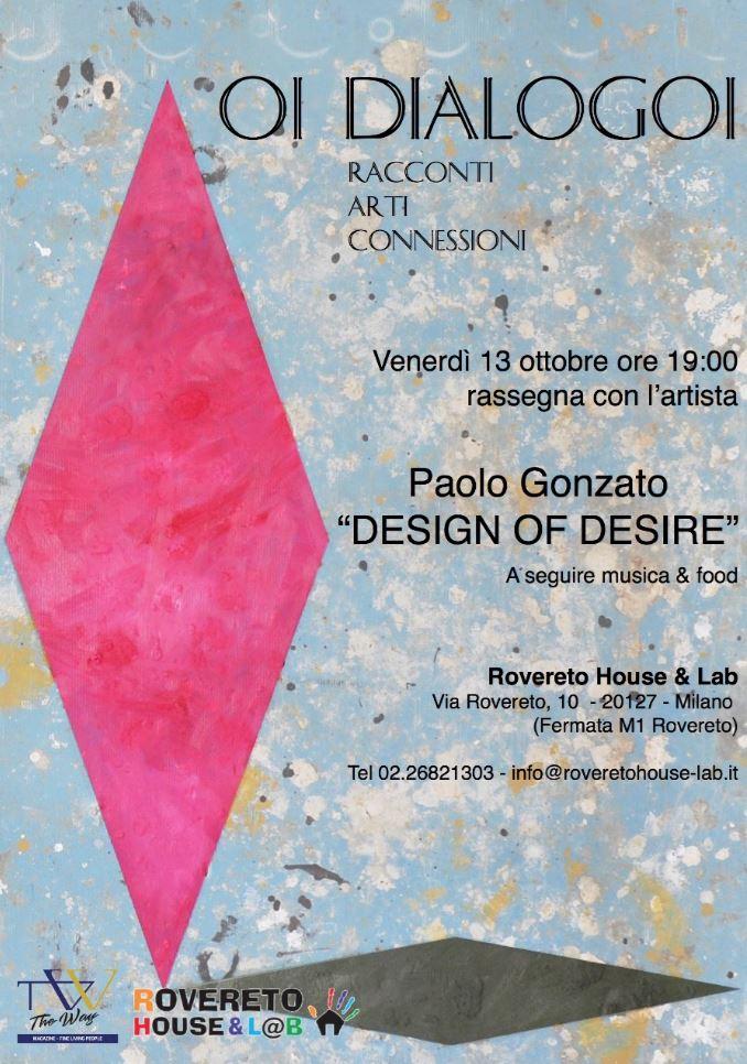 La rassegna Oi Dialogoi alla Rovereto House & Lab di NoLo - Nord di Loreto a Milano. Primo incontro promosso da The Way Magazine con Paolo Gonzato.