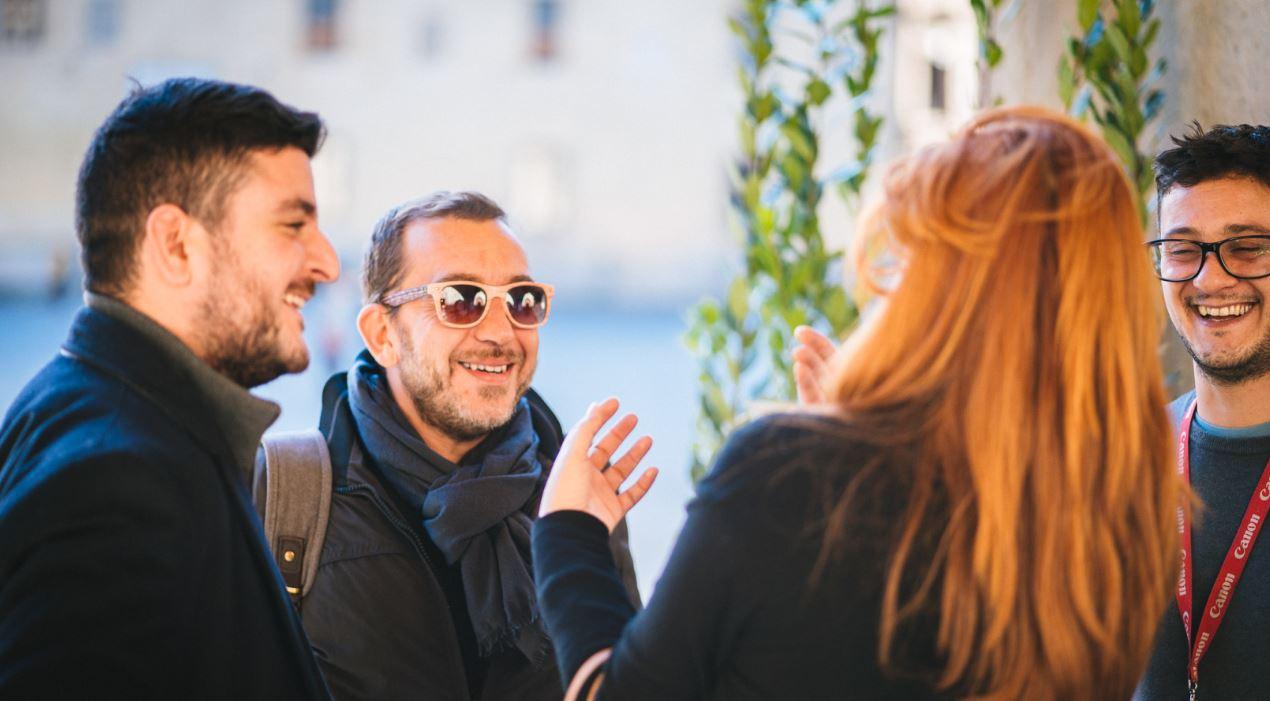 Luca Parenti, al centro, docente Ied Firenze.