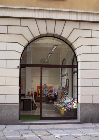 La seconda sede di Deodato Arte nel distretto delle 5Vie, via Nerino 2 a Milano.