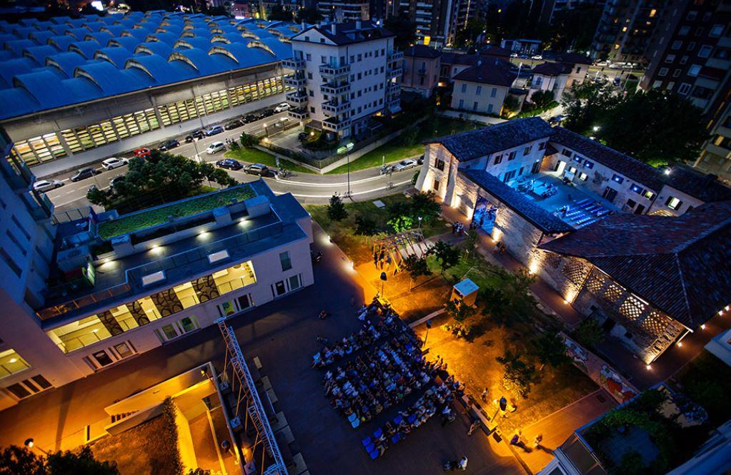 Mare Culturale Urbano a Milano, visto dall'alto, nella foto di Luca Chiaudano.