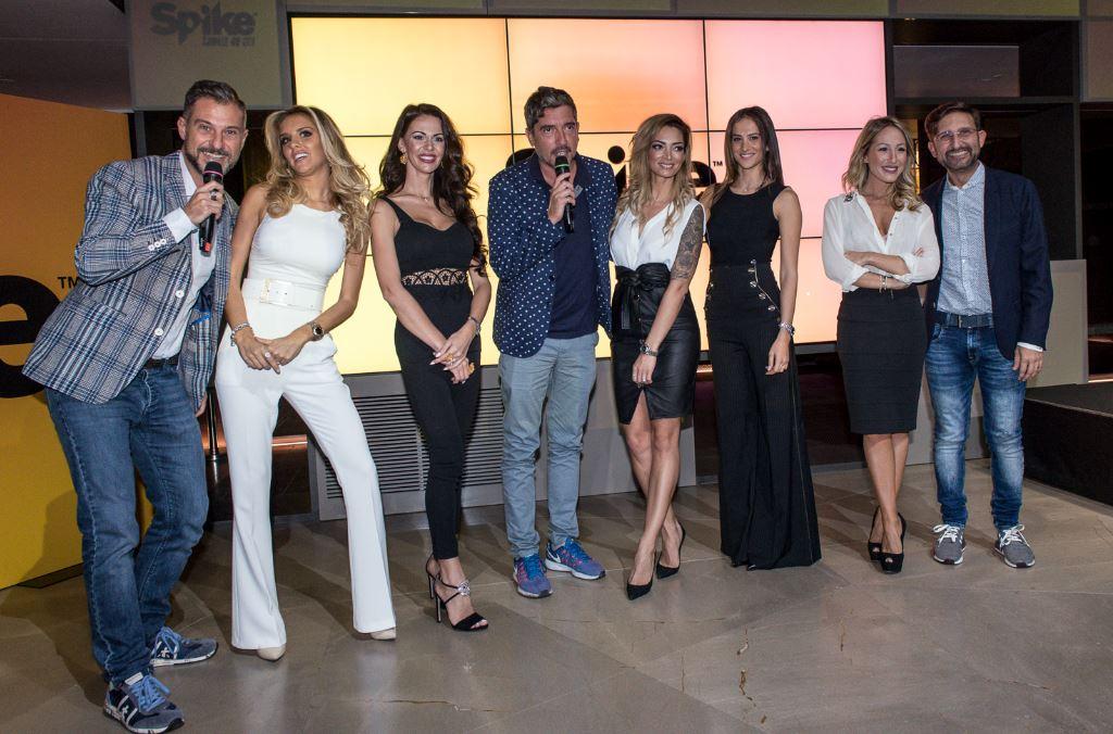 """Le Capitane col Trio Medusa alla presentazione di Spike Tv a Milano. Il trio ha un programma, """"Wipe Out - Pronti a tutto"""" Arriva su Spike uno dei game show più divertenti e di maggiore successo ."""