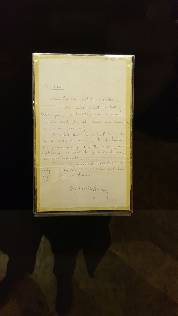 La lettera di Paul McCartney che nel 1970 sancì la fine dei Beatles.