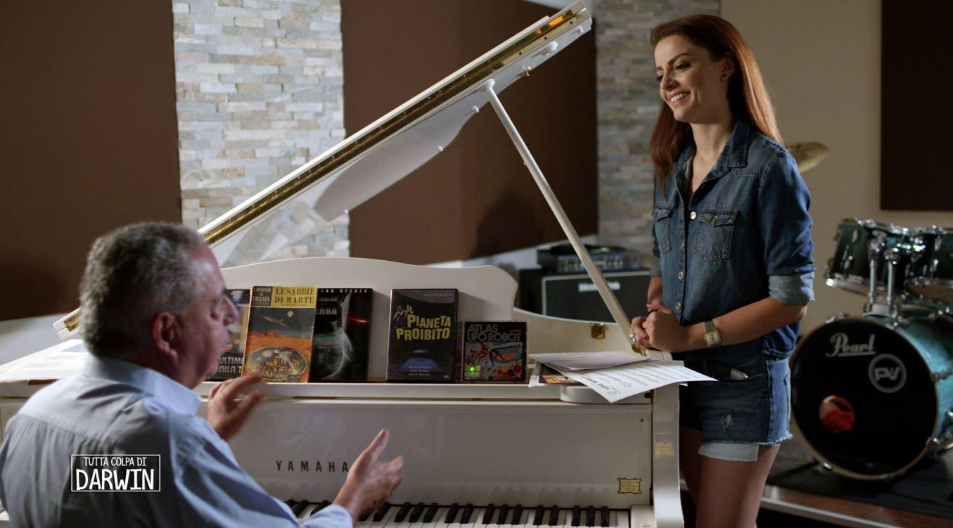 L'alchimia della musica: Annalisa con il grande direttore d'orchestra Vince Tempera.
