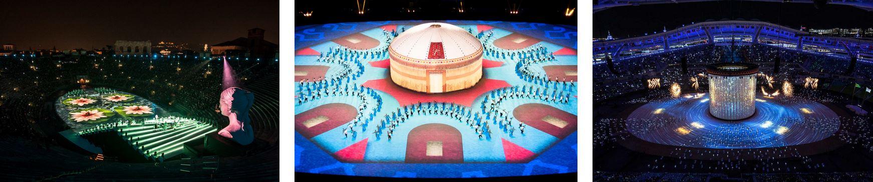 Alcune produzioni Balich: Intimissimi On Ice all'Arena di Verona e le cerimonie Aimag con 4500 figuranti nel Turkmenistan, ad Ashgabat