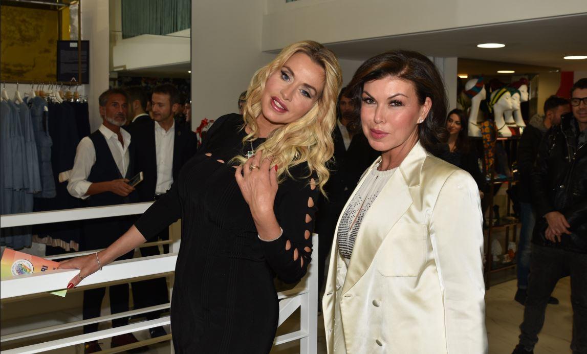 Valeria Marini con Lorella Maselli di Why Not Group.