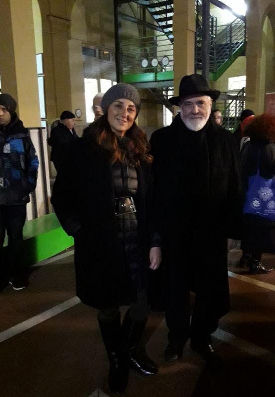 Grazia Torre di The Way Magazine con Michelangelo Pistoletto a Napoli, dicembre 2017.