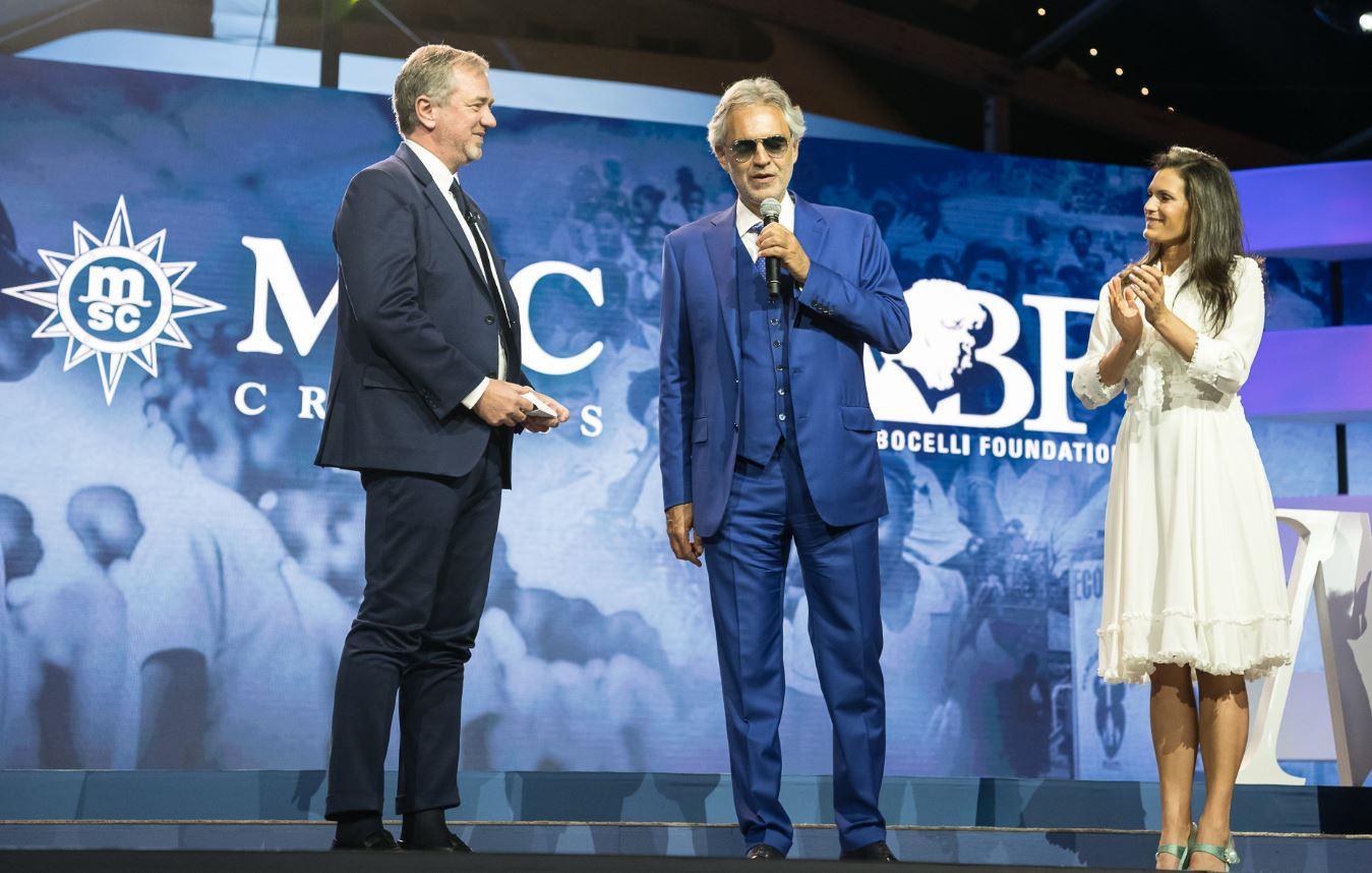 Andrea Bocelli a Miami per MSC Crociere.
