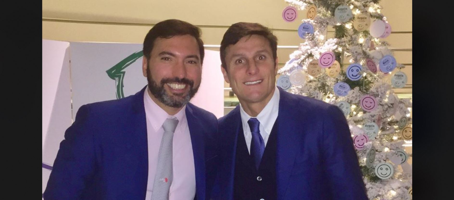 Christian Gaston Illan con Javier Zanetti.