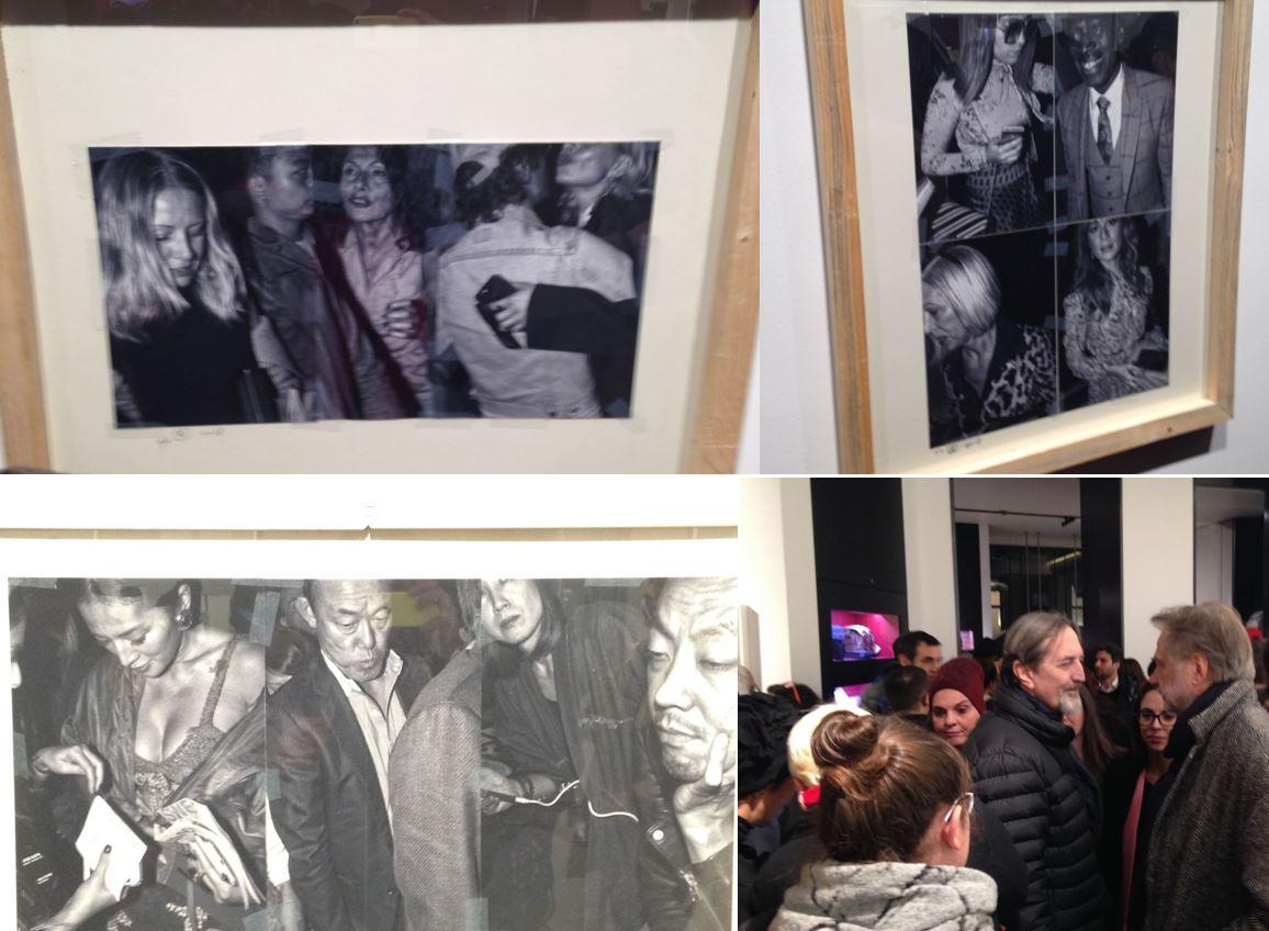 L'inaugurazione a Milano è stata proprio un'occasione di incontro sociale come le fotografie in esposizione documentano. Nello scatto si riconosce l'arrivo di Giovanni Gastel (foto: The Way Magazine)
