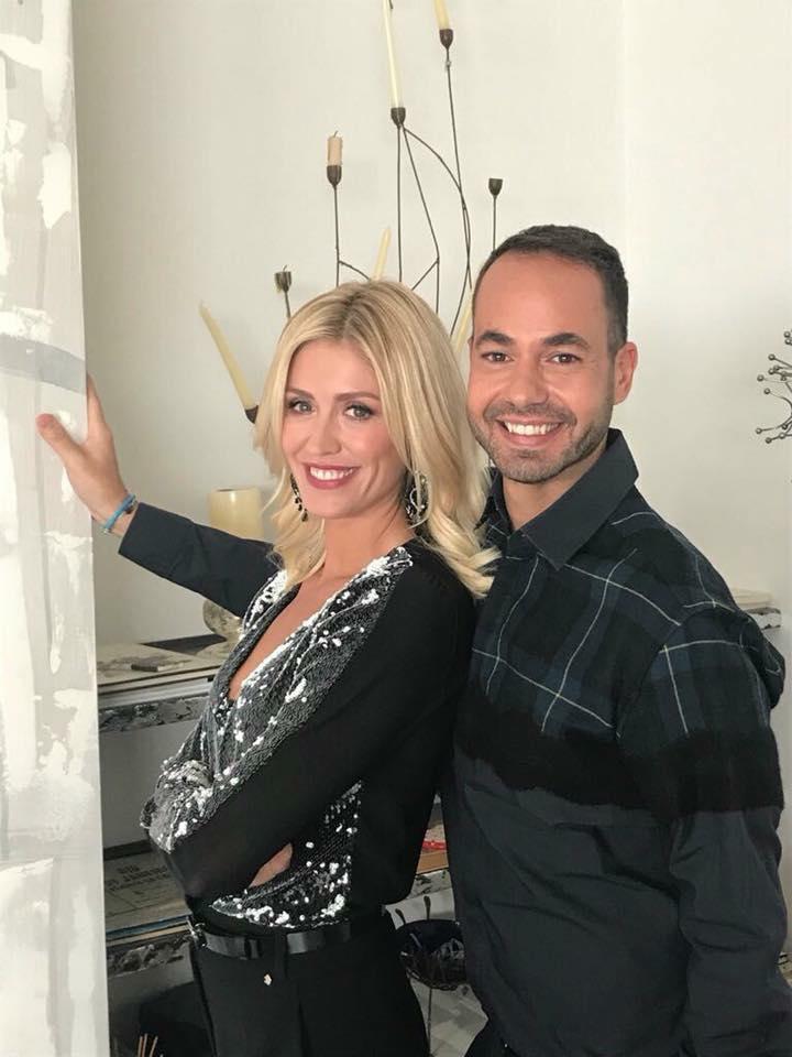 Marina Graziani e Damiano Gallo durante l'ultima edizione de Il Bello del Mattone su 7 Gold.