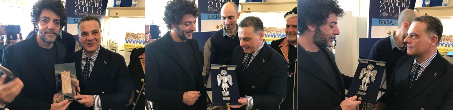Max Gazzè e il sindaco di San Severo (foto per The Way Magazine Marco Masciopinto)