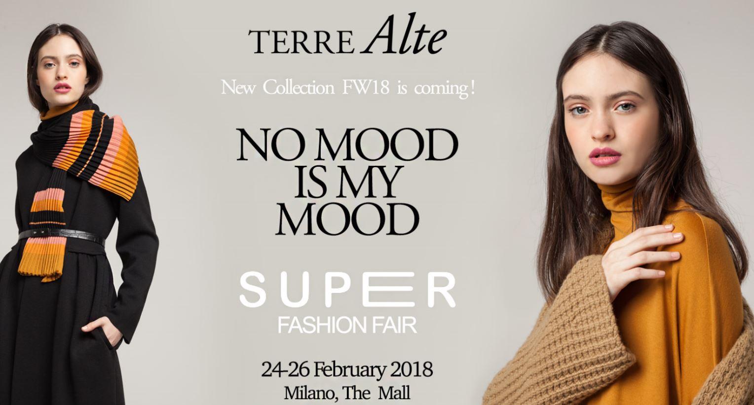 Il mood invernale per Terre Alte al prossimo Super Fashion Fair di Milano.
