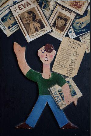 Triennale Design Museum_Sirio Galli, Pubblicita per il giornale Eva ,1933, Fondo sirio Galli