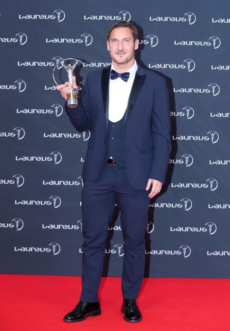 Francesco Totti, un esempio di sport per tutti, ai Laureus 2018.