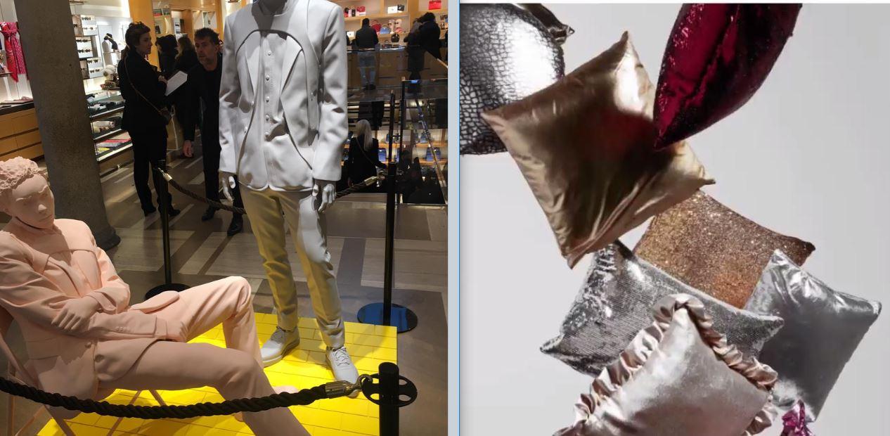 Da sinistra  Louis Vuitton by Virgil Abloh e Celine. Foto di Stefano Regina  per The Way Magazine. 2c7eb46b12b